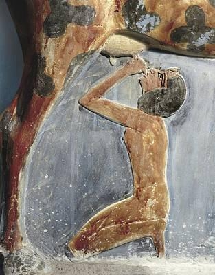 Hathor Photograph - The Cow Goddess Hathor Breast Feeding by Everett