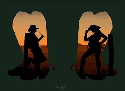 Cowboy Art Digital Art - The Cowboy Way 2.. Nice Boots by Brien Miller