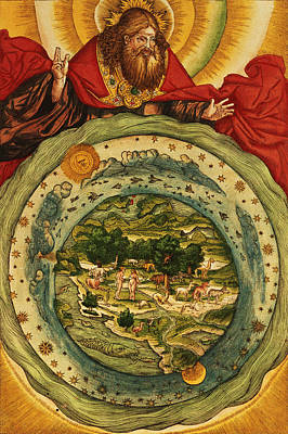 Christianity Drawing - The Creation, From The Lutheran Bible by German School