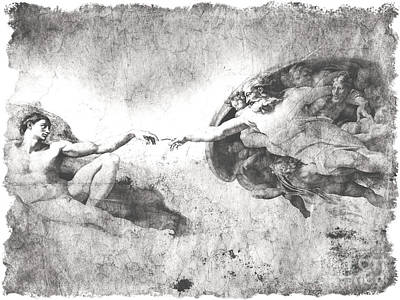The Creation Of Adam Print by Stefano Senise