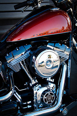 Harley Photograph - The Crimson Hog II by David Patterson