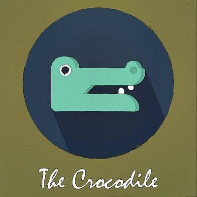 Crocodile Digital Art - The Crocodile Cute Portrait by Florian Rodarte