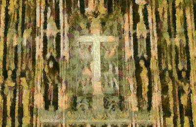 Baptism Mixed Media - The Cross by Dan Sproul