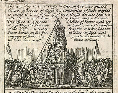 The Cross In Cheapside Print by British Library