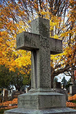 Final Resting Place Photograph - The Cross by Jemmy Archer