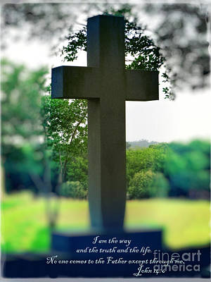 Mix Medium Digital Art - The Cross Of Jesus - I Am The Way by Ella Kaye Dickey