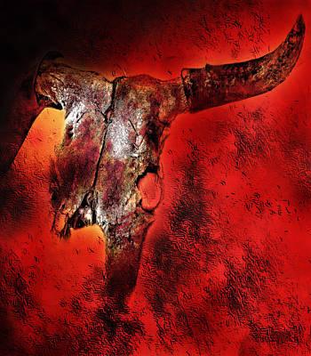 Cattle Drive Digital Art - The Crossing by Terril Heilman