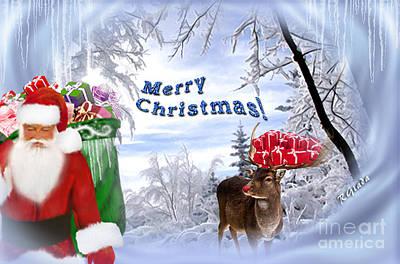 The Crossroad - Christmas Art By Giada Rossi Print by Giada Rossi