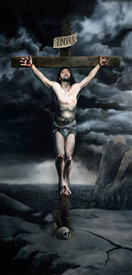 The Crucifixion Print by Eric  Armusik