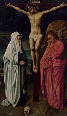 Crucifix Painting - The Crucifixion by Hugo van der Goes