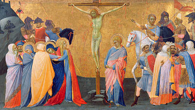Master Painting - The Crucifixion by Master of the Madonna of San Pietro of Ovila