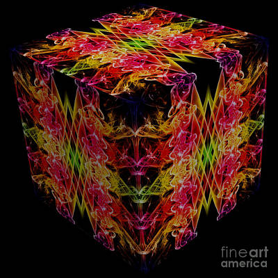 The Cube 1 Print by Steve Purnell