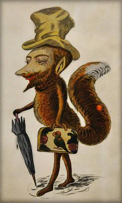 Fox Digital Art - The Cunning Fox by Bill Cannon