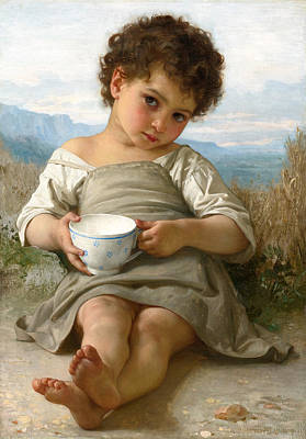 William-adolphe Bouguereau Painting - The Cup Of Milk by William-Adolphe Bouguereau