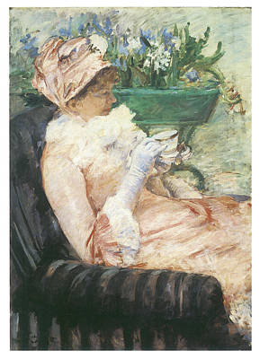 Sip Painting - The Cup Of Tea by Mary Cassatt