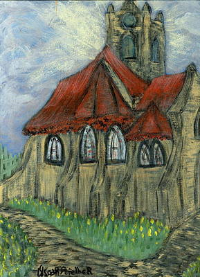 European Painting - The Curch  by Oscar Penalber