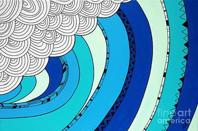 Claire Digital Art - The Curl by Susan Claire