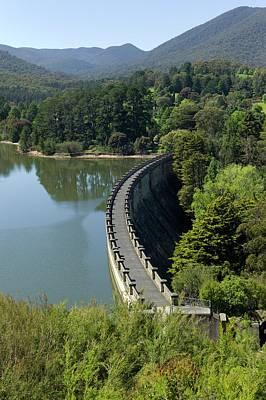 The Dam Wall Of Maroondah Reservoir Print by Dr Jeremy Burgess
