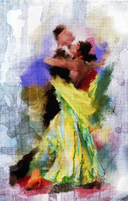 Dance Floor Painting - The Dance by Robert Smith