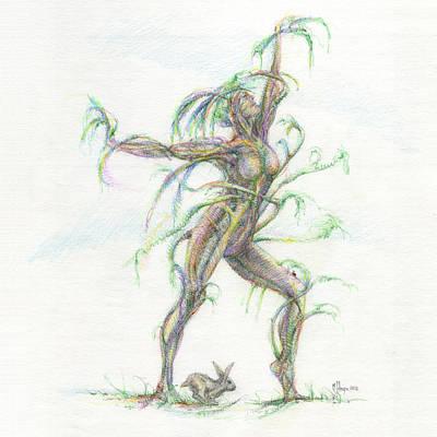 Mark Johnson Drawing - The Dancer by Mark Johnson