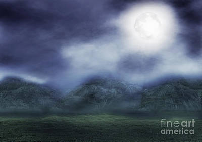 Moonlit Night Mixed Media - The Dark Fog by Jaturong Panomphoum