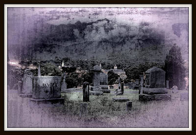 R.i.p Photograph - The Dark Tombs  by Constance Lowery