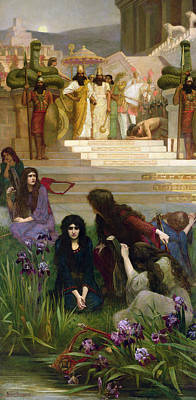 Babylon Painting - The Daughters Of Judah In Babylon by Herbert Gustave Schmalz