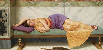 John William Godward Painting - The Day Dream by John William Godward