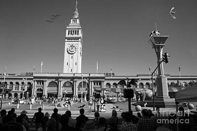 The Day The Circus Came To Town Again Dsc1745 Bw Print by Wingsdomain Art and Photography
