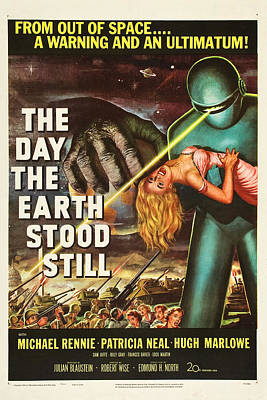 Theater Drawing - The Day The Earth Stood Still by MMG Archives