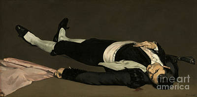 Gore Painting - The Dead Toreador by Edouard Manet