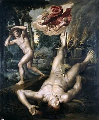 The Death Of Abel Print by Michiel Coxcie