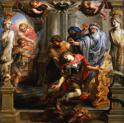 Achilles Painting - The Death Of Achilles by Peter Paul Rubens