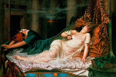 Distraught Painting - The Death Of Cleopatra by Reginald Arthur