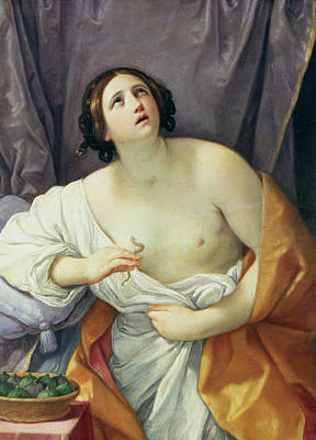 Biting Painting - The Death Of Cleopatra by Guido Reni
