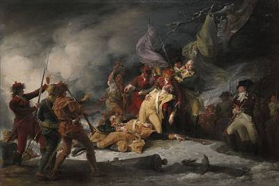 The Death Of General Montgomery In The Attack On Quebec, December 31, 1775, 1786 Oil On Canvas Print by John Trumbull