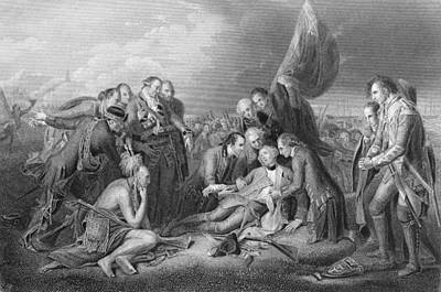 Quebec Photograph - The Death Of General Wolfe, 1759, From The History Of The United States, Vol. I, By Charles Mackay by Benjamin West
