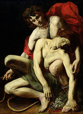 Loser Painting - The Death Of Hyacinthus  by Italian School