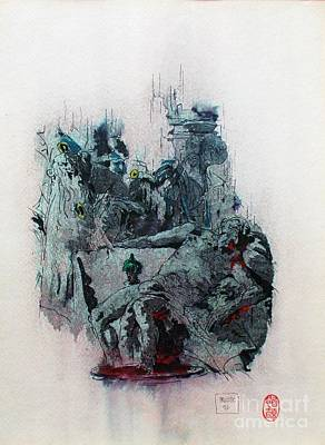 Statesmen Mixed Media - The Death Of Seneca by Roberto Prusso