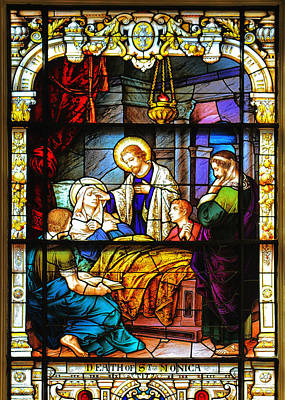 The Death Of St Monica St Augustine Print by Christine Till