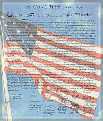 The Declaration Of Independence - Star-spangled Banner Print by Stephen Stookey