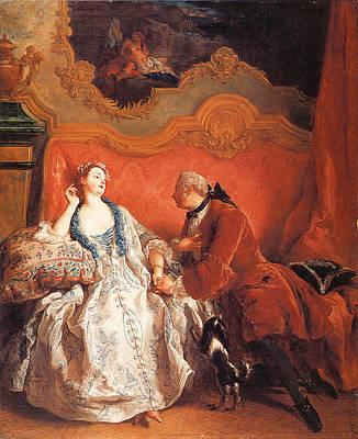 De Troy Painting - The Declaration Of Love by Jean-Francois De Troy