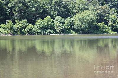 Reflections Of Sky In Water Photograph - The Delaware Water Gap by John Telfer