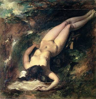Erotica Painting - The Deluge by William Etty