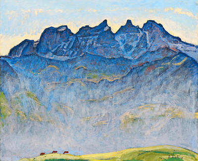 Ferdinand Hodler Painting - The Dents Du Midi by Ferdinand Hodler