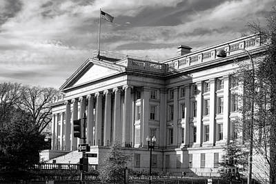 The Department Of Treasury Print by Olivier Le Queinec