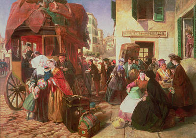 Bundle Painting - The Departure Of A Diligence by Abraham Solomon