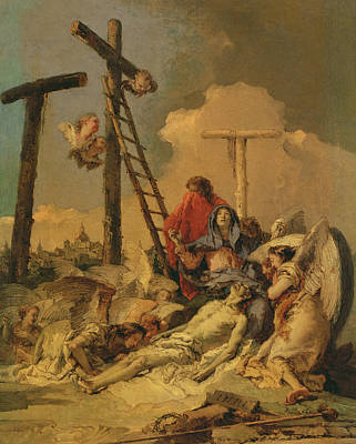 Crucifix Painting - The Deposition by Giovanni Battista Tiepolo