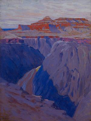 Canyon Painting - The Destroyer by Arthur Wesley Dow