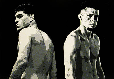 Ufc Painting - The Diaz Bros by Geo Thomson